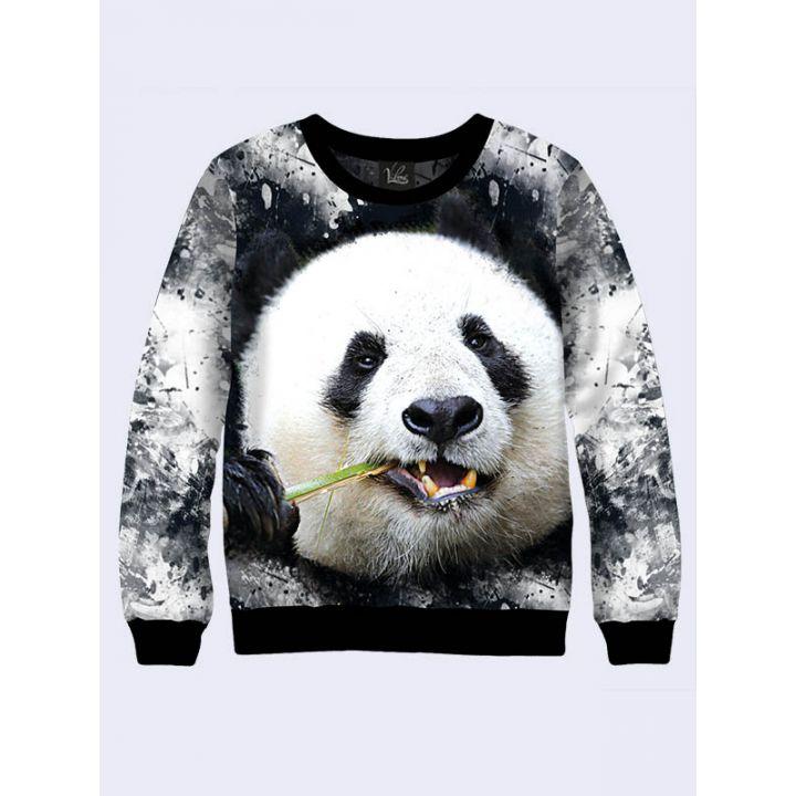 """Жіночий світшот """"Панда"""" сірий"""