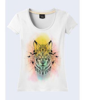 Футболка Цветной волк