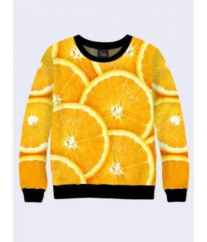 """Жіночий світшот """"Апельсин"""" помаранчевий"""
