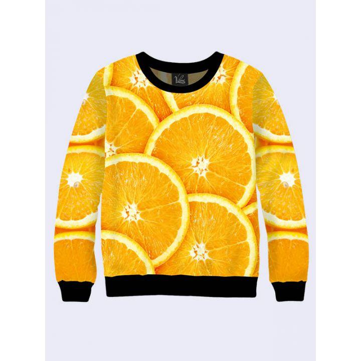 """Женский свитшот """"Апельсин"""" оранжевый"""