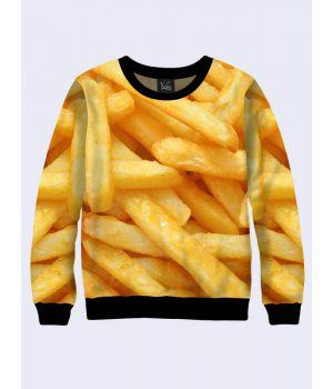 """Світшот жіночий """"Картопелька Фрі"""" жовтий"""