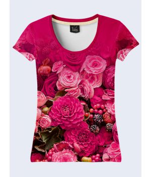 Футболка Розовые цветы