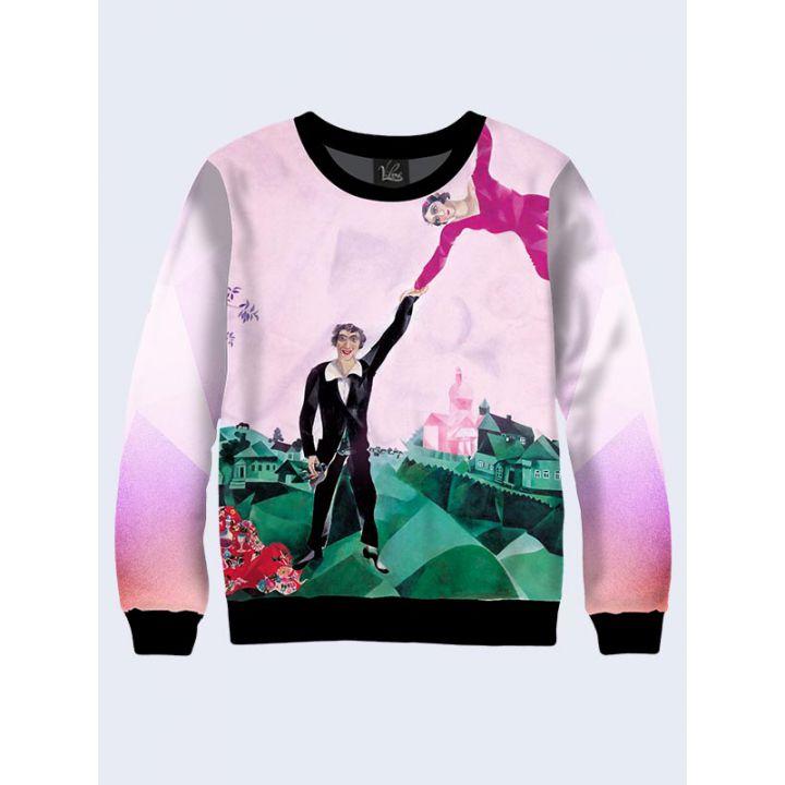 """Жіночий світшот """"Прогулянка"""" ніжно-рожевий"""