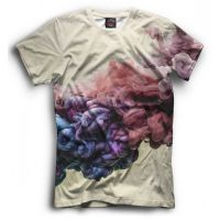 Прикольная футболка с рисунком Цветной дым