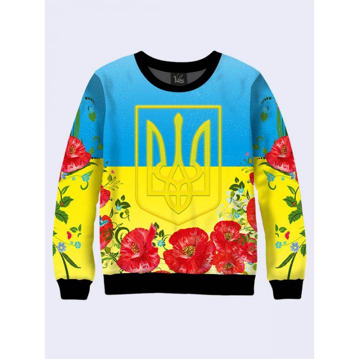 """Женский свитшот """"Украина"""" сине-желтый"""