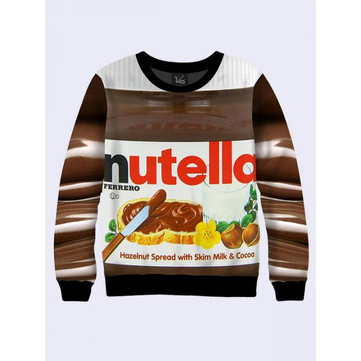"Женский свитшот ""Нутелла"" шоколад"