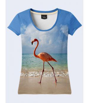 Футболка Фламинго и океан