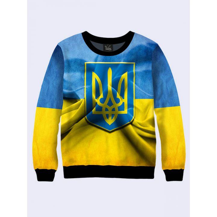 """Женский свитшот """"Ukraine"""" сине-желтый"""