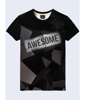 3D-футболка чоловіча Awesome