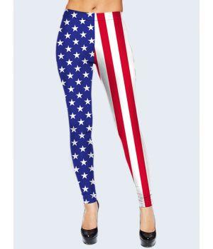 """3D Леггинсы женские """"В стиле США"""""""
