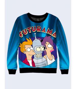 """Мужской свитшот """"Futurama"""" синий"""