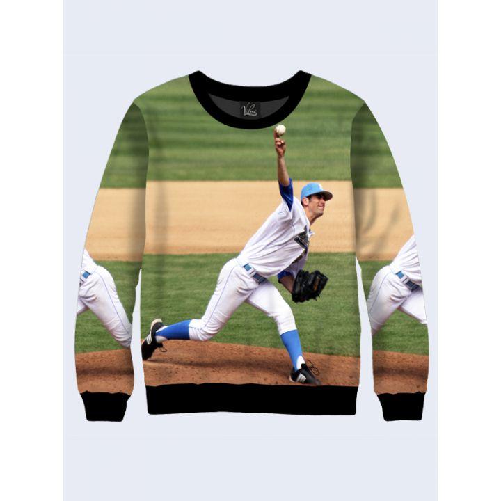 "3D Свитшот для мужчин ""Бейсболист"" зеленый"