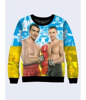 "Свитшот для мужчин ""Боксеры Кличко"" сине-желтый"