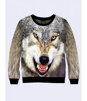 "Свитшот для мужчин ""Волк"" серый"