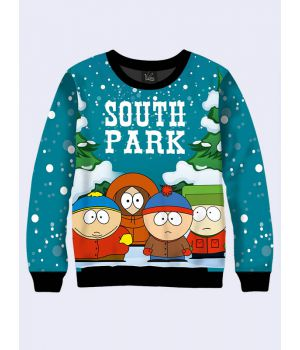 "Мужской свитшот ""South Park Winter"" синий"