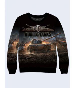 """Мужской свитшот """"Game World of Tanks"""" черный"""