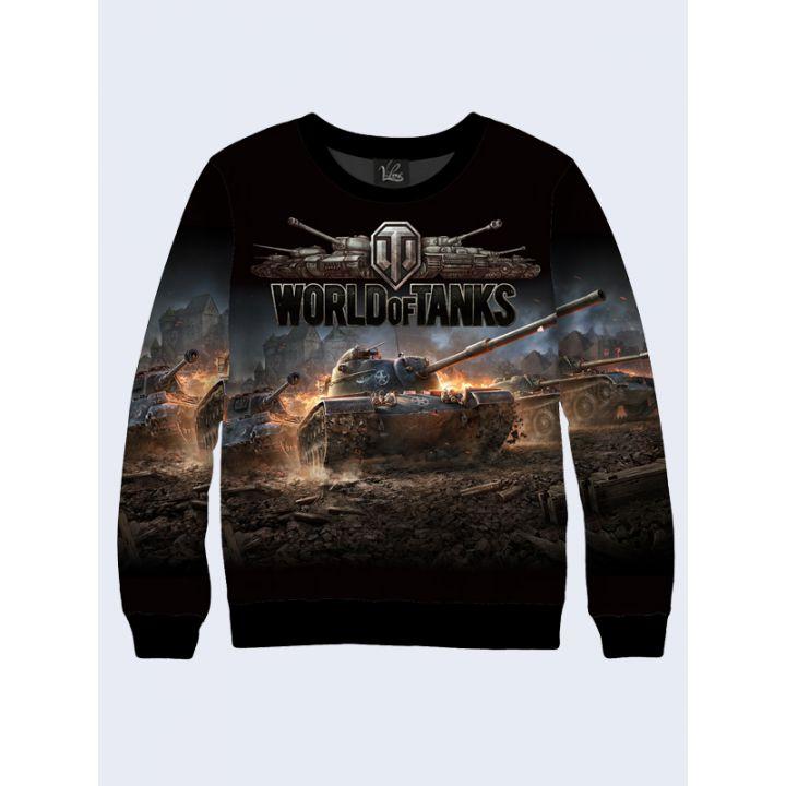 """3D Мужской свитшот """"Game World of Tanks"""" черный"""