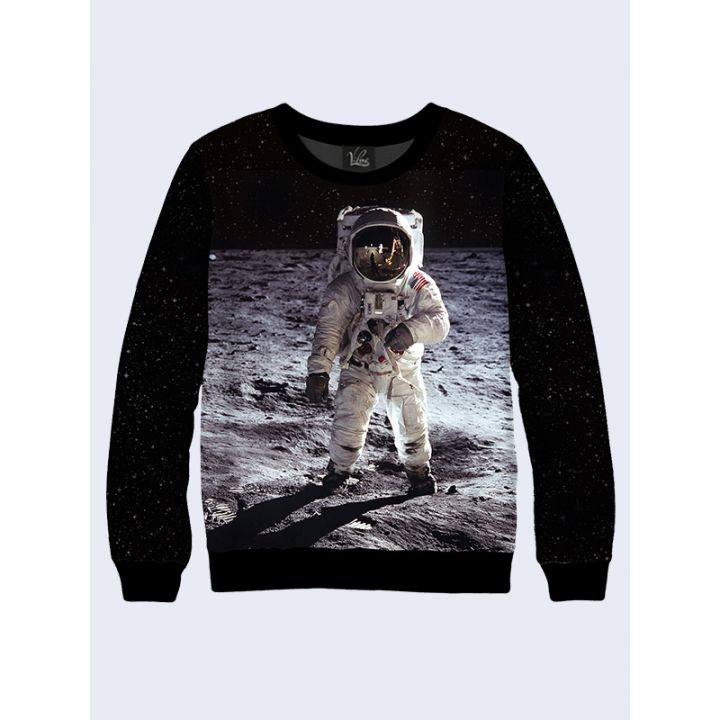 """3D Чоловічий світшот """"Космонавт"""" чорний"""