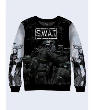 """Мужской свитшот """"SWAT"""" серый"""