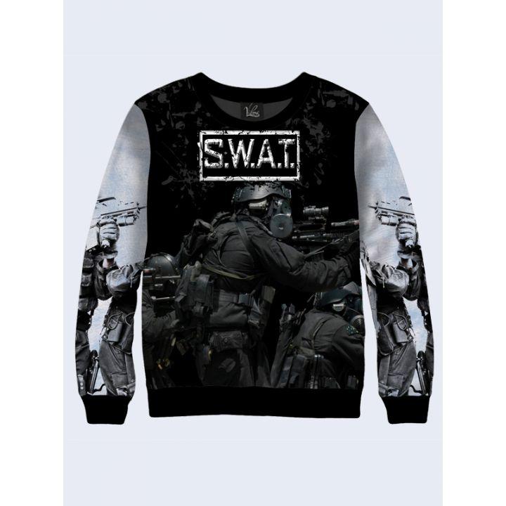 "3D Мужской свитшот ""SWAT"" серый"