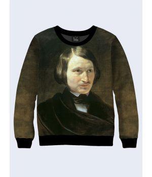 """Свитшот для мужчин """"Портрет Гоголя"""" коричневый"""