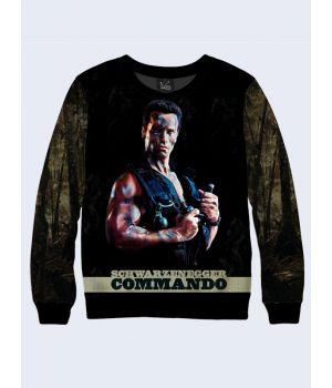 """Мужской свитшот """"Commando"""" темно-зеленый"""
