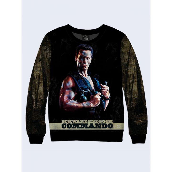 """3D Чоловічий світшот """"Commando"""" темно-зелений"""