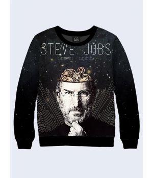 """Свитшот для мужчин """"Стив Джобс"""" черный"""