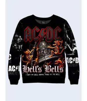 """Мужской свитшот """"AC/DC"""" черный"""