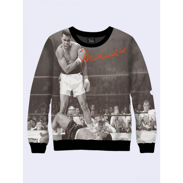 "3D Свитшот для мужчин ""Боксер Muhammad Ali"" коричневый"