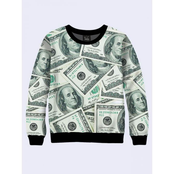 """3D Свитшот для мужчин """"Американские доллары"""" зеленый"""