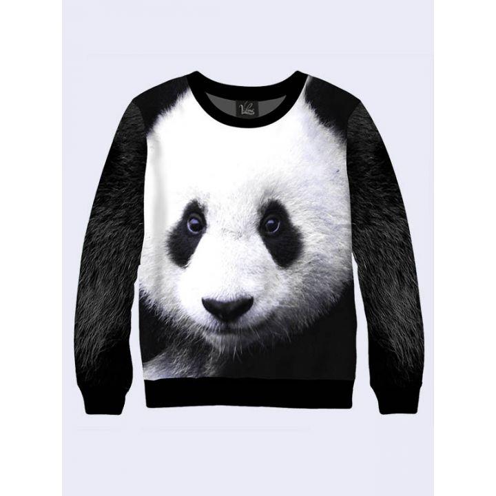 """Світшот для чоловіків """"Панда"""" чорно-білий"""