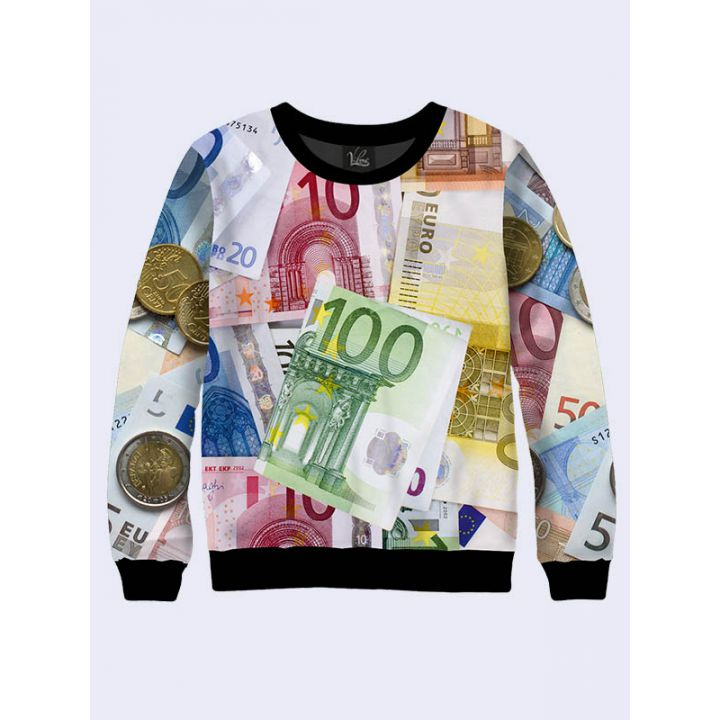 "3D Свитшот для мужчин ""Евро"" радуга"