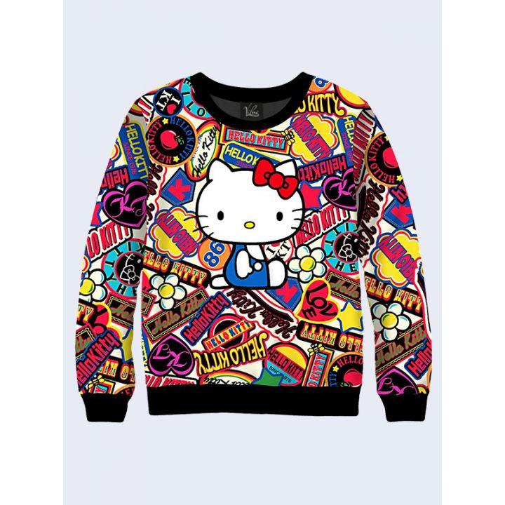 """Женский свитшот """"Hello Kitty"""" белый"""
