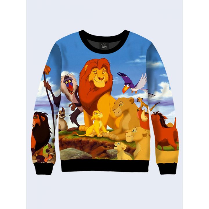 "Свитшот женский ""Король лев"" синий"