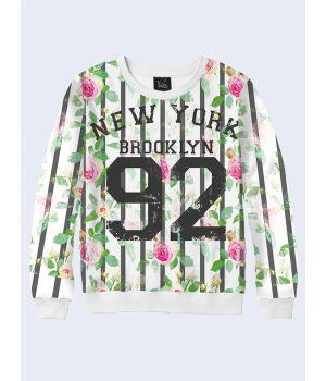 """Жіночий світшот """"New York 92"""" білий"""
