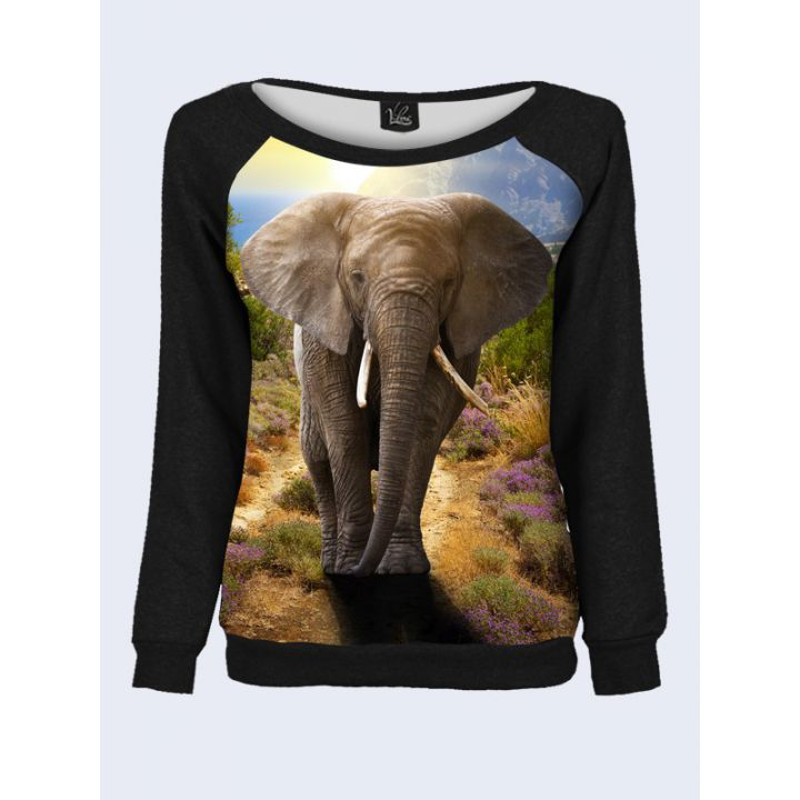 """Свитшот женский с обьемным 3D принтом """"Слон"""""""