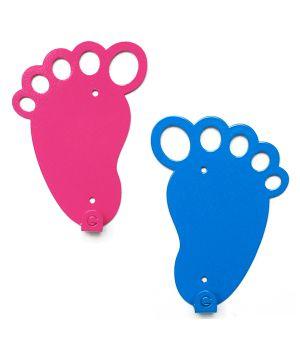 Вешалка настенная Feet Blue and Pink