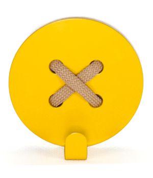 Вешалка настенная Button Yellow