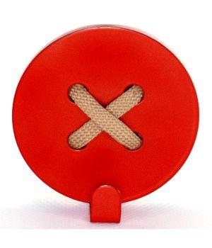 Вешалка настенная Button Red
