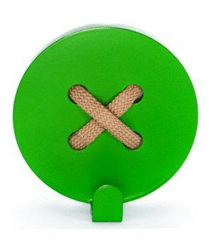 Вешалка настенная Button Green