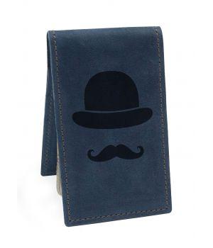 Визитница BermuD Джентльмен М01 синяя (B 12-18S-01-7)