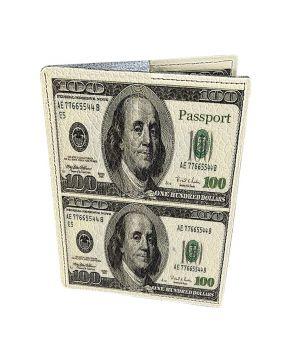 Дизайнерська шкіряна обкладинка на паспорт, 77211