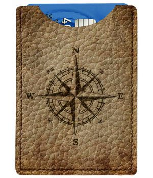 Картхолдер DevayS Maker DM 01 Роза ветров коричневый (25-01-449)
