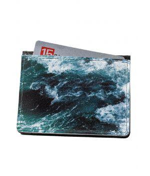 Гаманець-картхолдер DevayS Maker DM 15 Морські хвилі синій (30-0115-466)