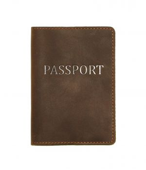 Дизайнерська шкіряна обкладинка на паспорт, 77206