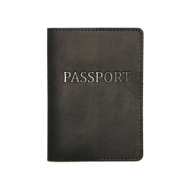 Дизайнерская кожаная обложка на паспорт, 77207