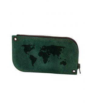 Ключниця BermuD Карта Світу М01 зелена (B 10-18Z-01-9)