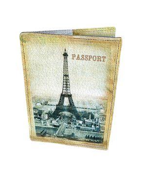 Дизайнерська шкіряна обкладинка на паспорт, 77198