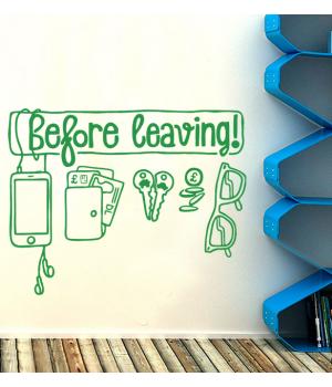 Before Leaving!